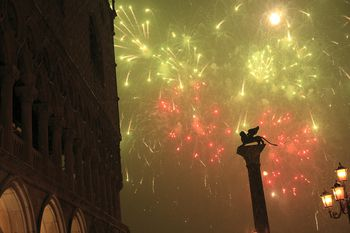 New Year s Celebrations and Events in Italy New Years Eve fireworks  Piazza San Marco  Venice  Italy