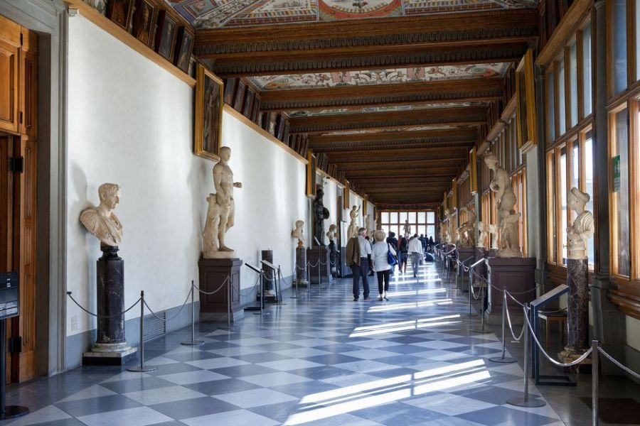 Top Museums to Visit in Florence  Italy Italy  Florence  Interior of Galleria degli Uffizi