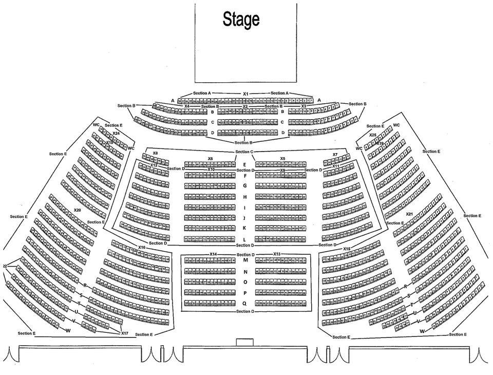 Buffalo Town Ballroom Seating Chart