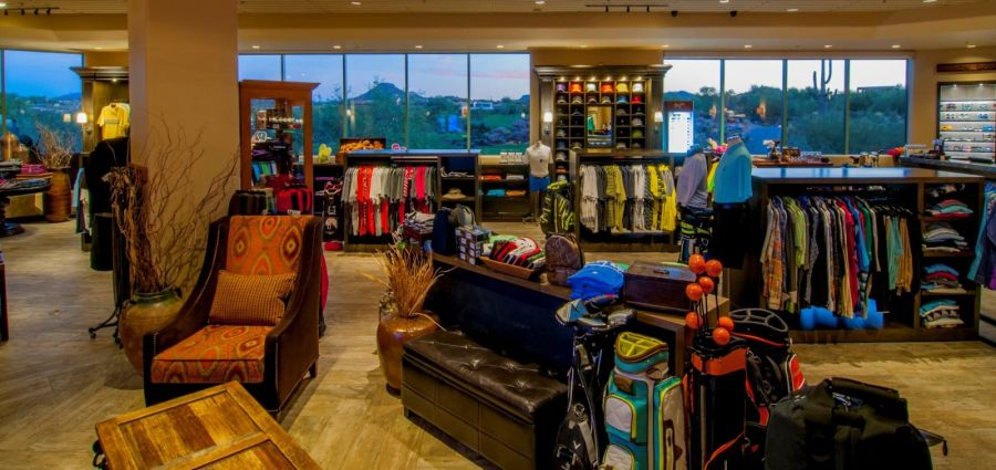 Troon North Golf Club Golf Pro Shop The spacious golf shop  which stretches over 2 200 square feet  has been  named an AGM Platinum Award Winner recognizing premier golf shops  and  named one of