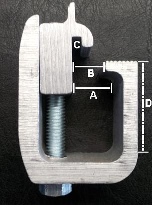 Truck Cap Or Topper Mounting Clamps