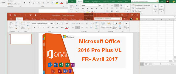 Microsoft Office 2016 Pro Plus VL FR- Avril 2017
