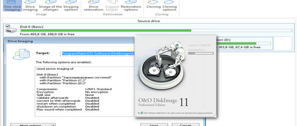 O&O DiskImage Professional Edition 11.2 Build 167