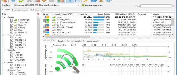 LizardSystems Wi-Fi Scanner 4.0 Build 149