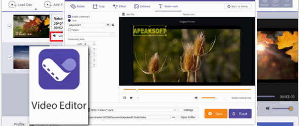 Apeaksoft Video Editor 1.0.8