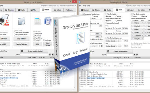 Directory List and Print Pro 3.54 + Portable