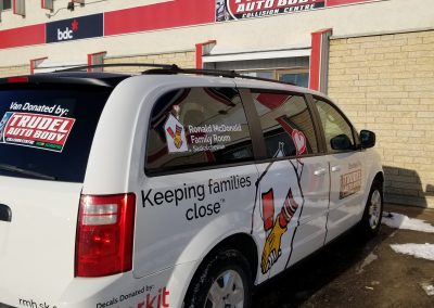 Van donated to the Ronald McDonald House