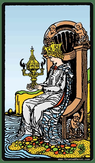 Card Cups Tarot Queen