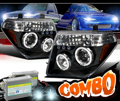 Hid Xenon Spec D 174 Halo Led Projector Headlights Black 05