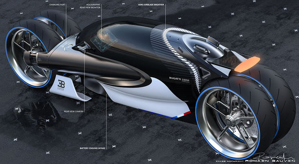 Futuristic Rmngvn Bugatti 100m Concept Vehicle Looks Like