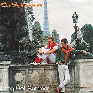 The Style Council Long Hot Summer Single Cover