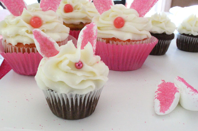 Bunny Cupcakes   Two Sisters Mini and Regular Sized Bunny Cupcakes