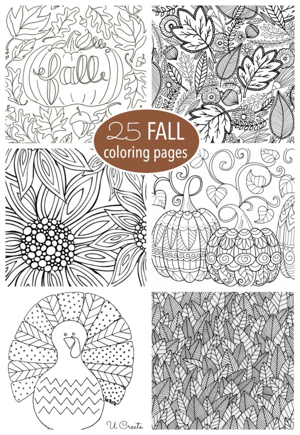fall coloring pages printable free # 1