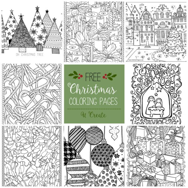 christmas coloring pages printable free # 20