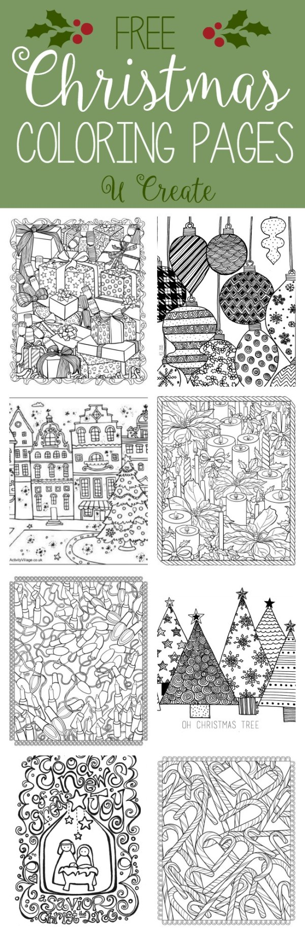 free printable holiday coloring pages # 9