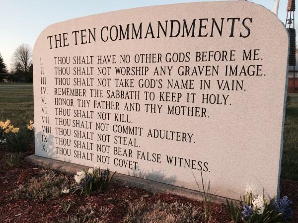 10 commandments bible # 1