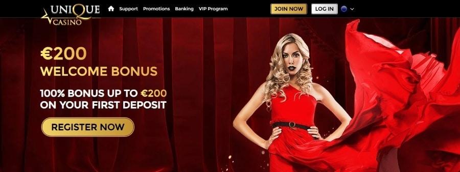 unique casino welcome bonus