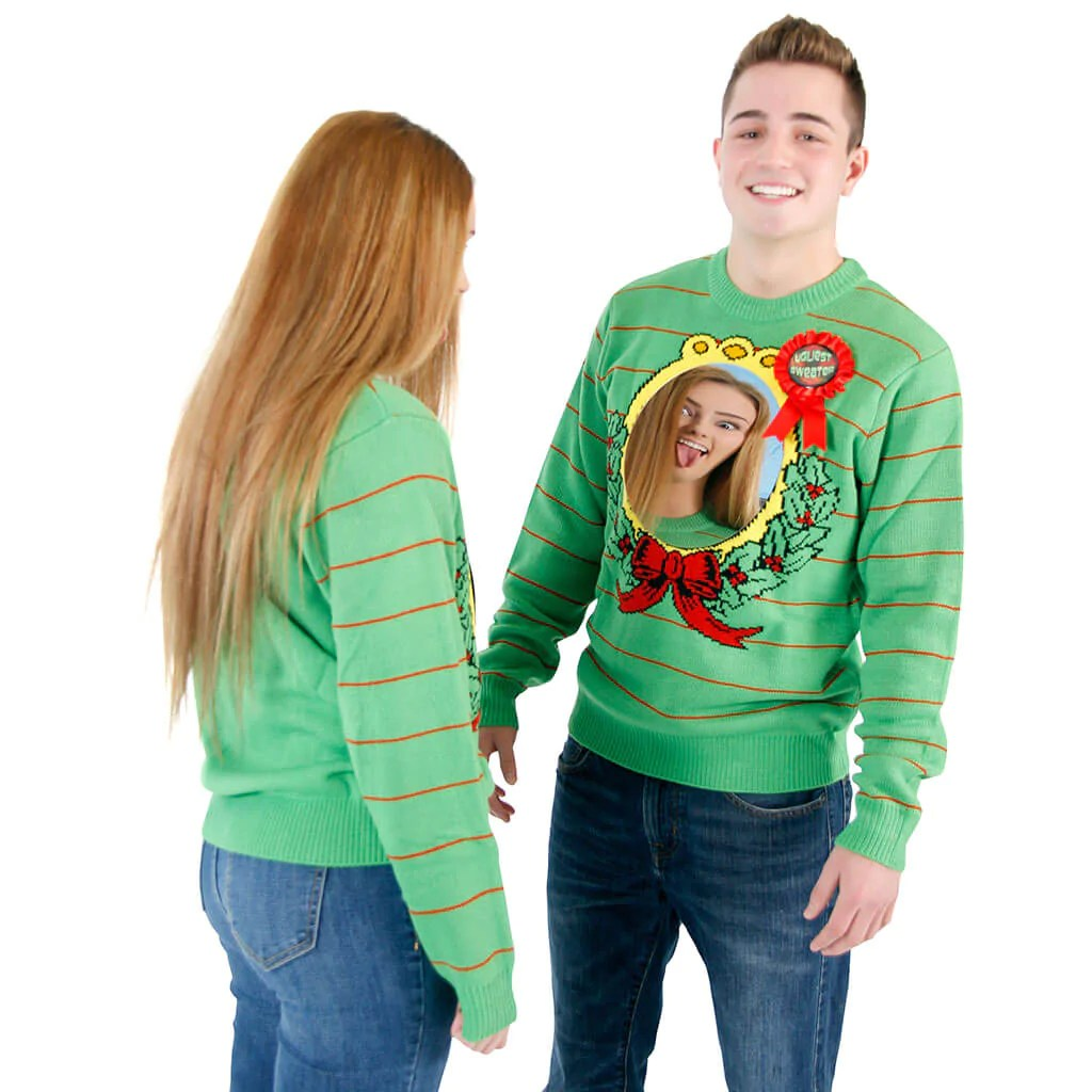 2 Person Ugly Christmas Sweater Black