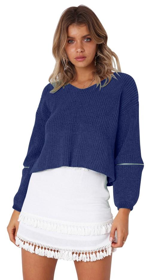 Leopard Print 3 4 Sleeve Sweater