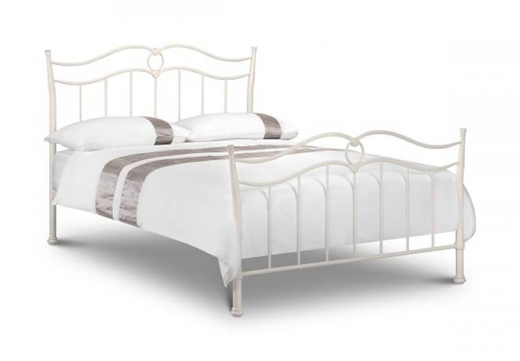 Julian Bowen Katrina 3ft Single Stone White Metal Bed