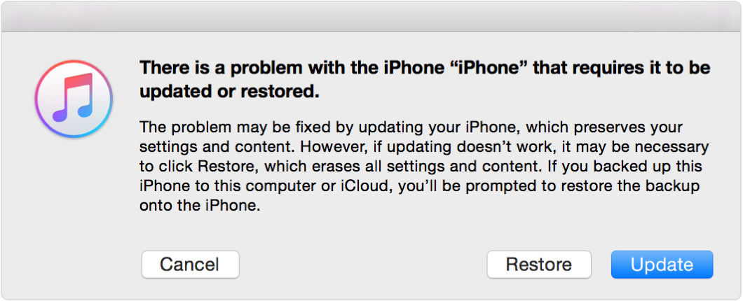 Az iTunes visszaállítja a letiltott iPhone-t
