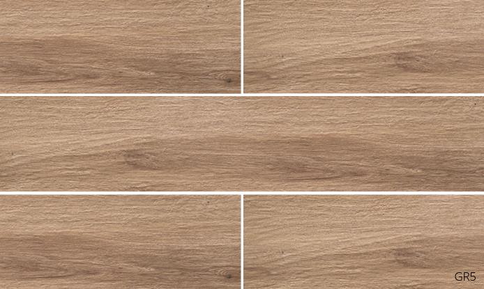 Grove Series Wood Effect Light Brown Porcelain Floor Tiles