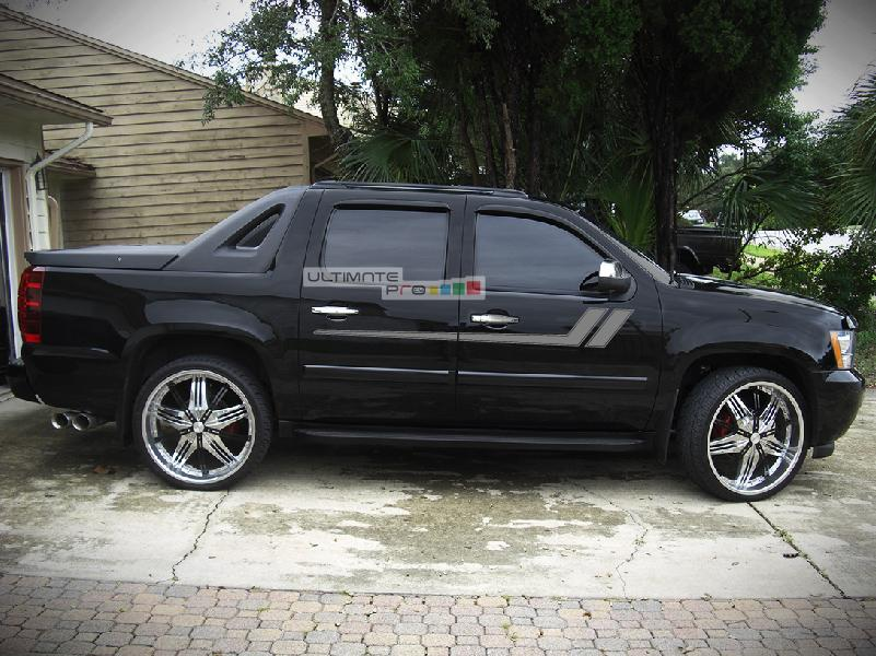 Red Chevy Avalanche Black