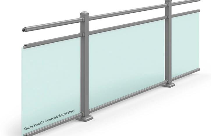 Residential Commercial Aluminum Railing Ultra Aluminum   Glass Hand Railing Design   Frameless   Decorative   Terrace   Indoor Glass Panel   Custom Glass