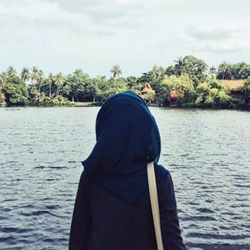 Face Hijab Profile Girl Hiding Cute