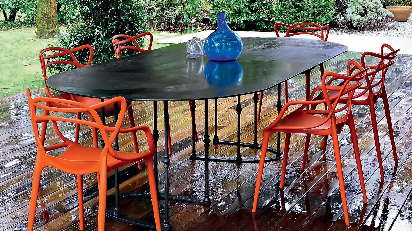 Kartell Masters Plastic Chair Contemporary Dining Room