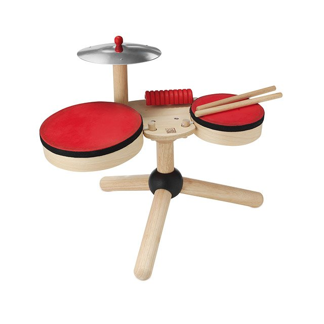Lil  Drum Set   Toddler Drum Set  Baby Drum Set   UncommonGoods Lil  Drum Set