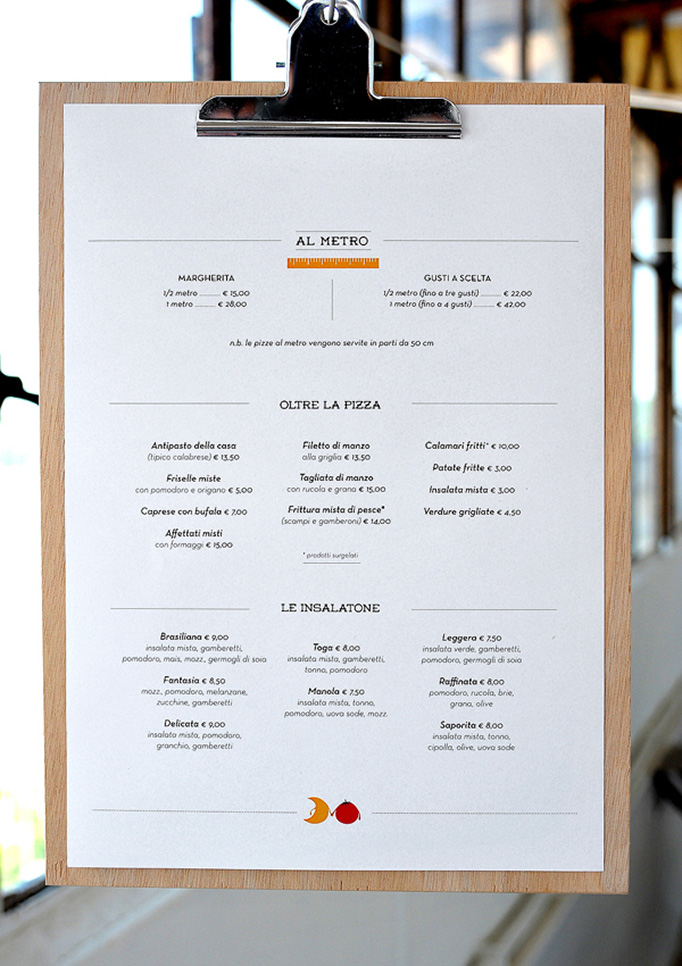 Art Of The Menu Luna E Pomodoro