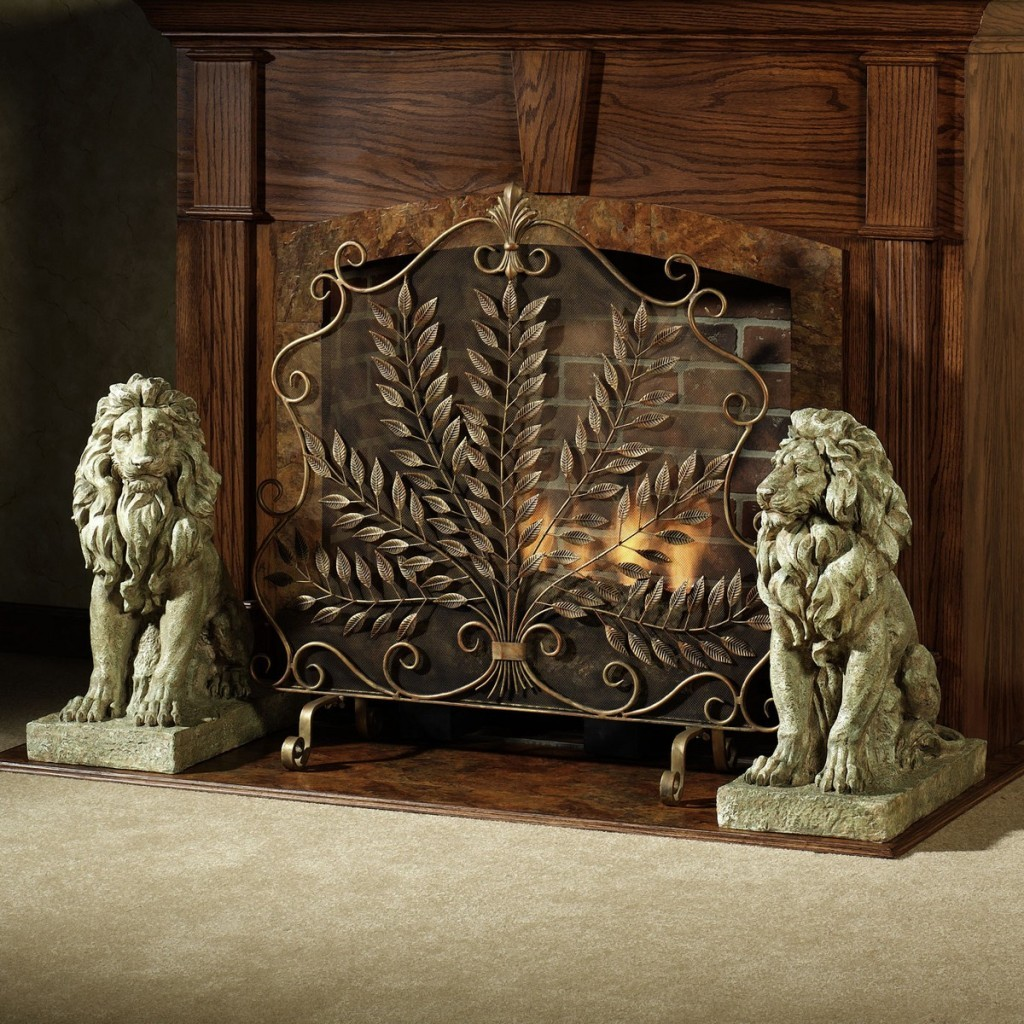 Decorative Fireplace Screens For Styling A Fireplace A