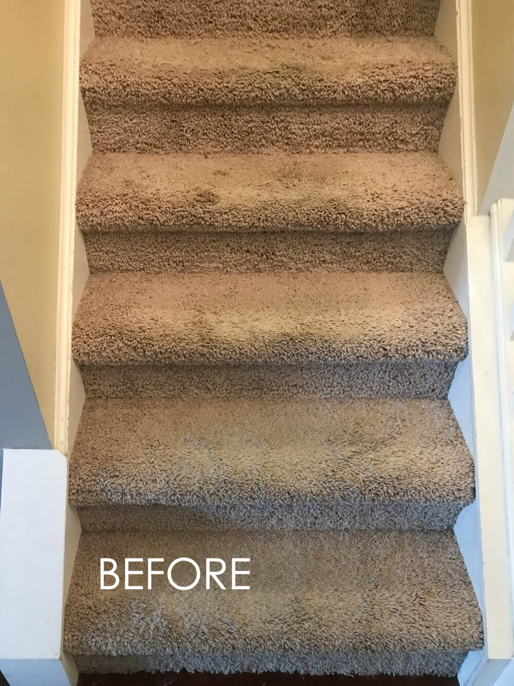 How To Replace Carpet With An Inexpensive Stair Runner For Around 100 | Fixing Carpet On Stairs | Wood | Staircase | Runner | Stair Nosing | Install