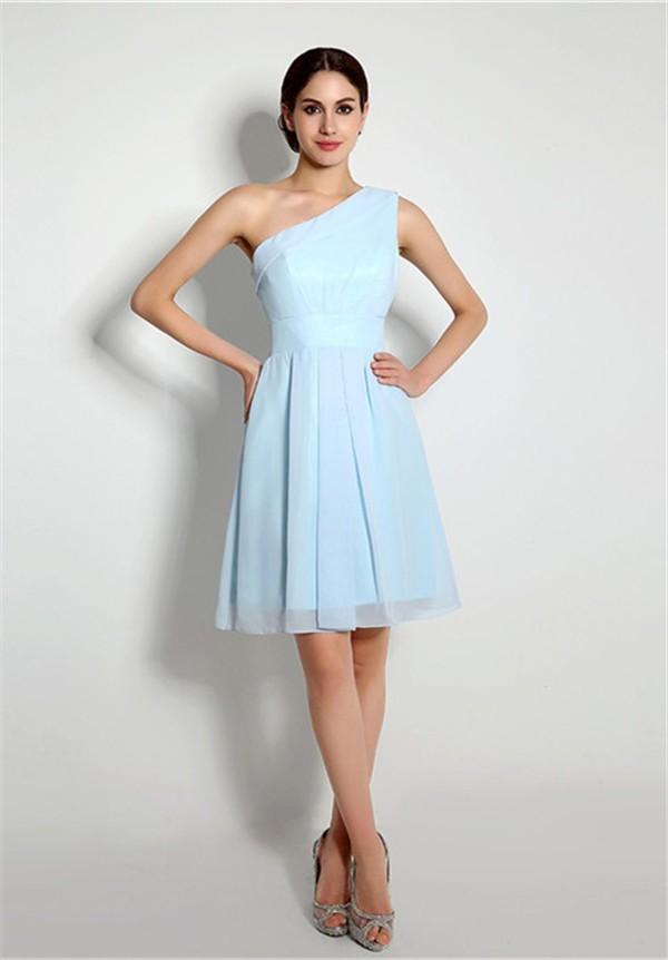 Chiffon Light Blue Dress