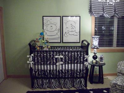 Black And White Nursery Ideas For Twins