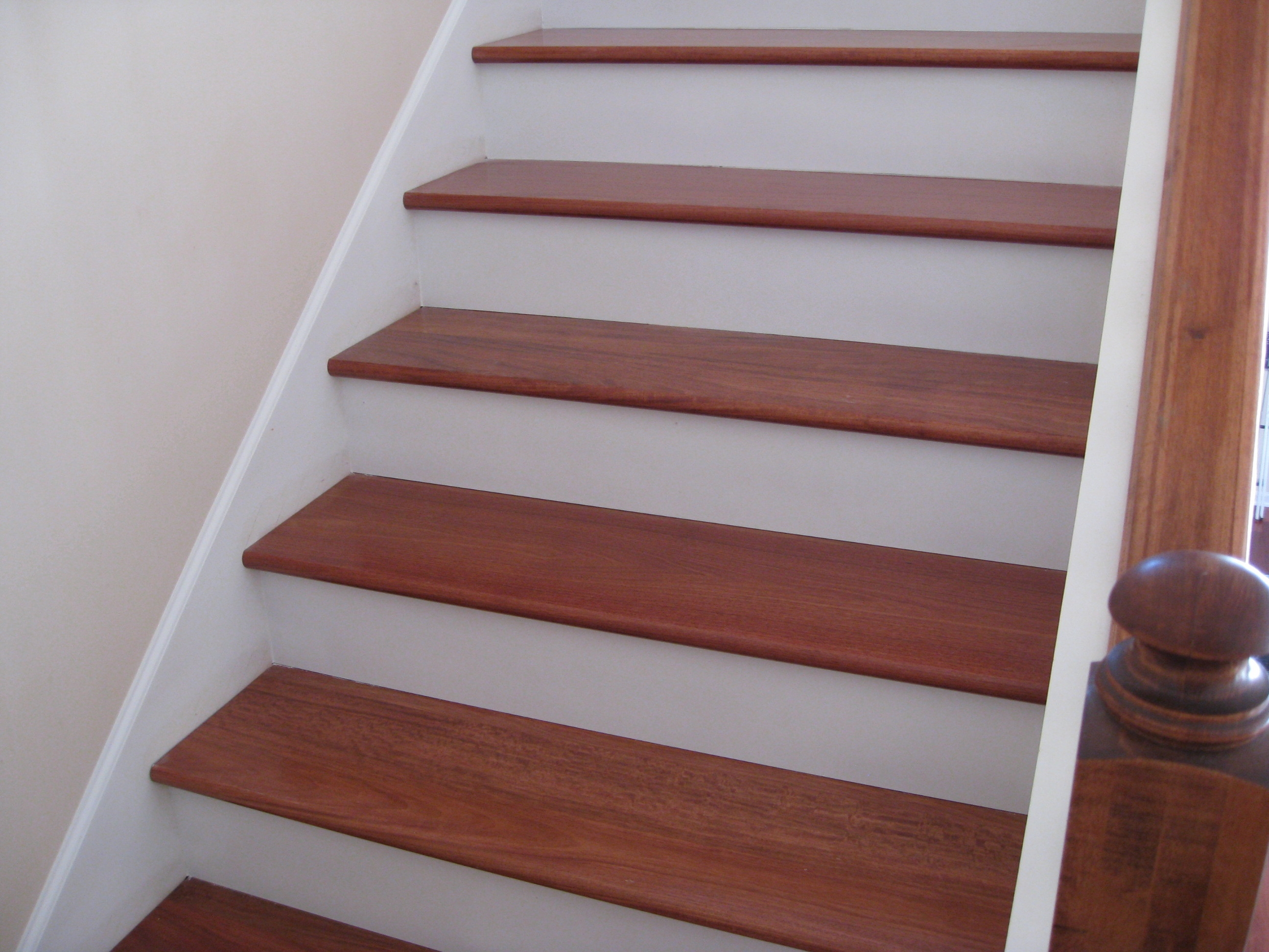 Upgrade Stair Treads And Risers With Hardwood Unique | Wood Look Stair Treads