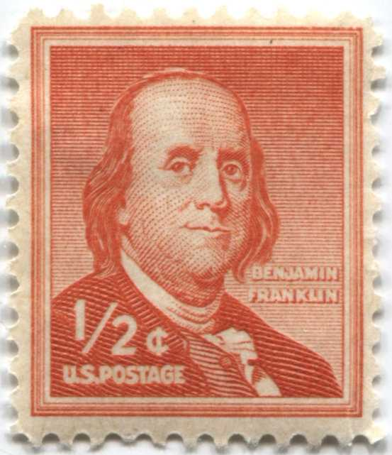 Postage 1 Stamp Cent Us Franklin