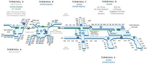 Iah Airport Map Terminal E - The Best Airport Of 2018
