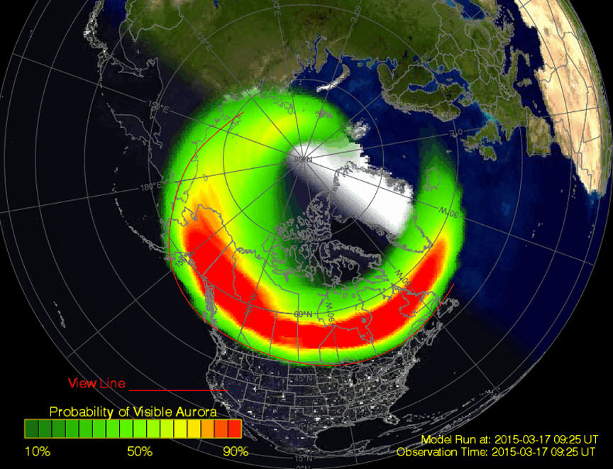 Northern Lights Map Tonight