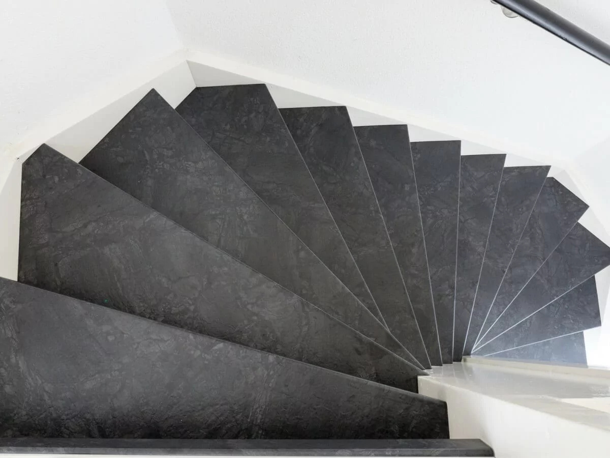Covering Concrete Stairs Elegance And Durability   Interior Concrete Stairs Design   Architecture   House   White Matte Concrete   Urban   Dark Wood Modern