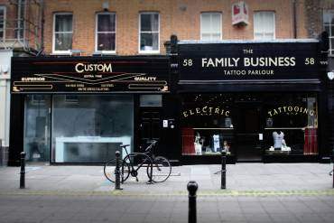 the family businness tattoo shop by mo coppoletta