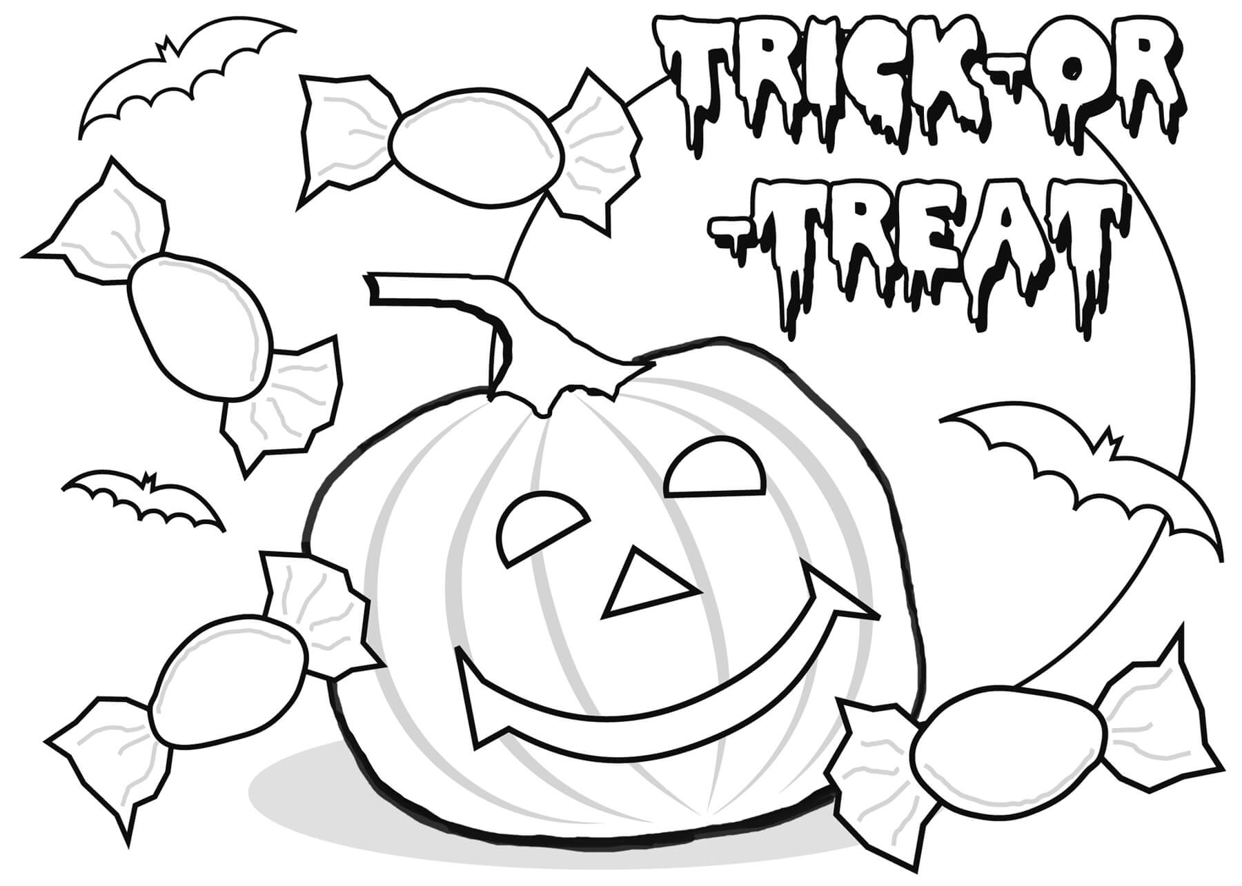 Happy Halloween Coloring Pages Printable Free For Kids Toddlers