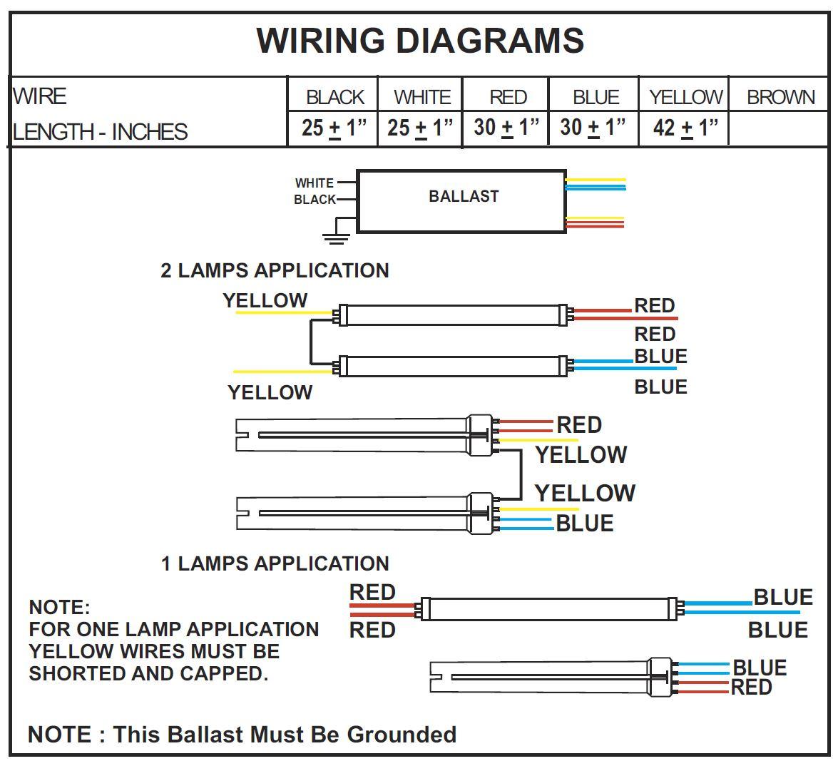 Wire Light Fixture Ballast Wiring A Blue