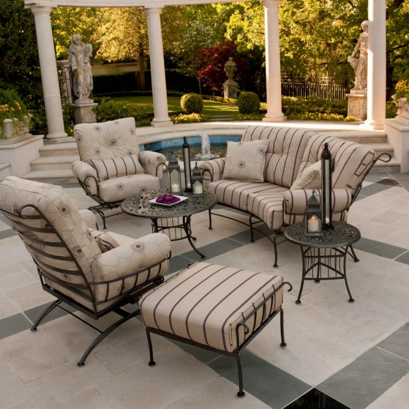 Woodard Terrace Wrought Iron 6 Piece Patio Furniture Set