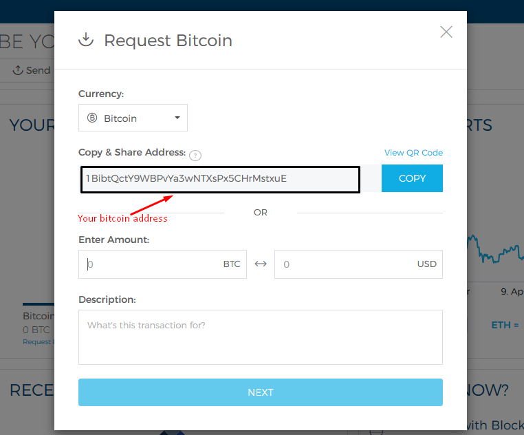 sending bitcoin with your wallet