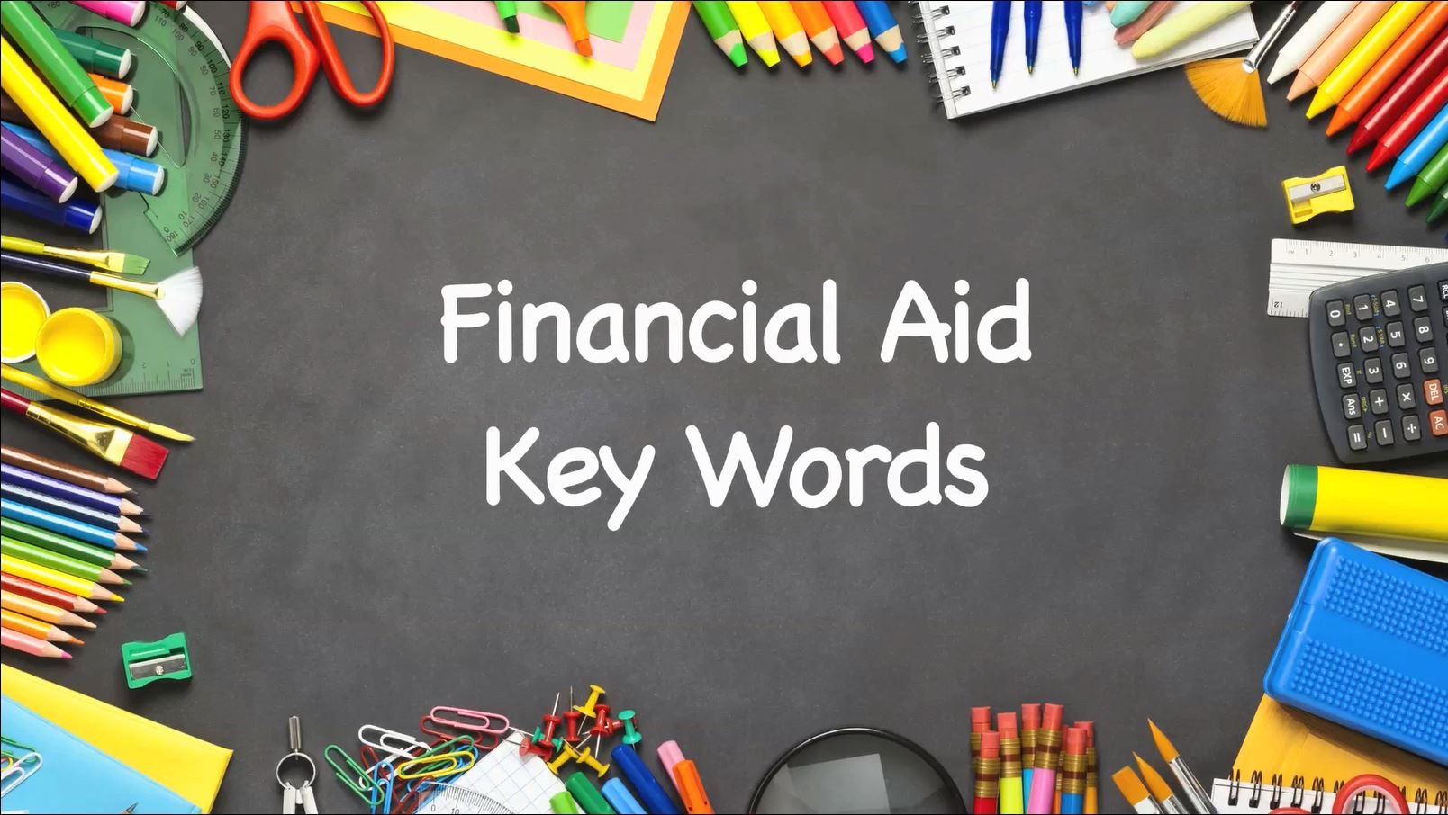 Key Words Used In Financial Aid Award Letters Paying For College Us News