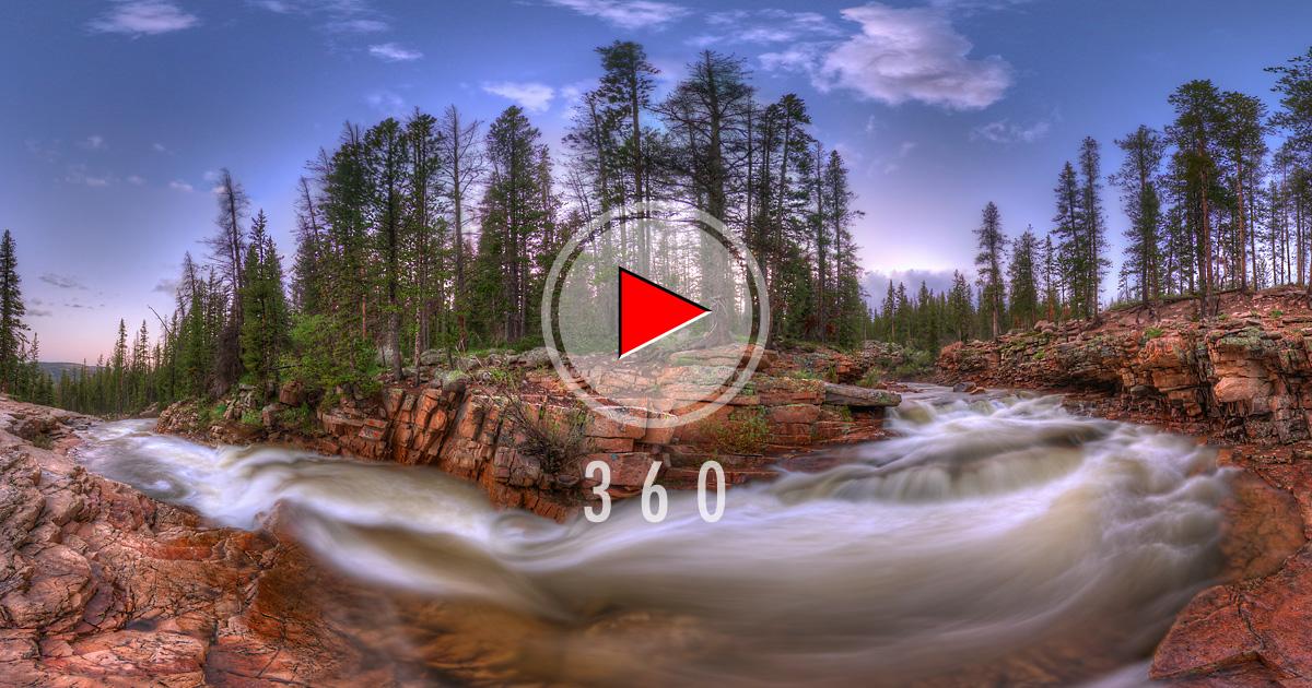 Provo River Falls In Utah Usa 3d Panorama