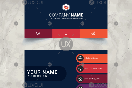Stylish   modern Business Card Design Template Vector   UXoUI Stylish   modern Business Card Design Template Vector