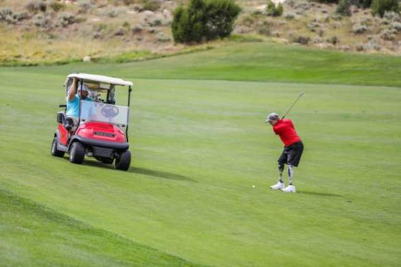 Vail Veterans Program s summer golf a little about golf  a lot about     Chris
